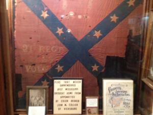 Battleflag of the 21st Mississippi Infantry, in the collections of the Old Court House Museum, Vicksburg, Mississippi