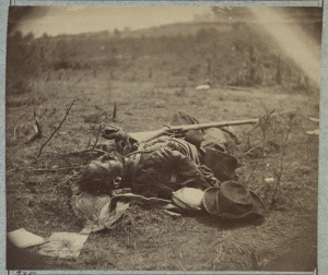 Dead Confederate Soldier at Spottsylvania - Library of Congress