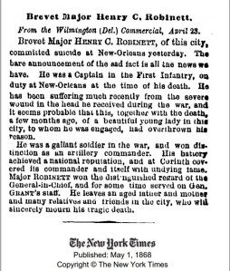 Obituary of Henry C. Robinett from the New York Times