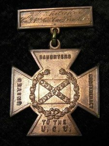 Southern Cross of Honor that belonged to F.W. Whitaker, who served in Company I, 4th Mississippi Cavalry. Photo courtesy of James Allard